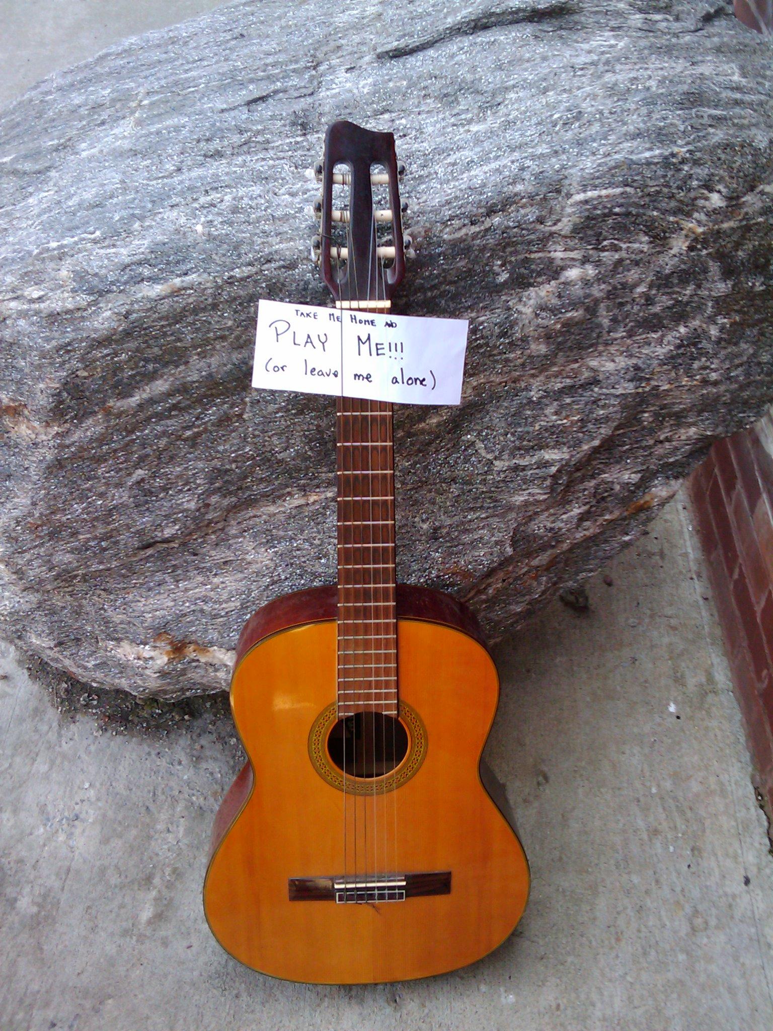 How to dump a guitar